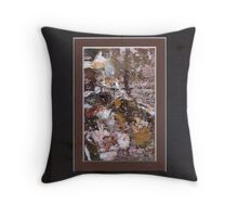 ABSTRACT SNOW SCENE Throw Pillow