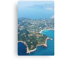 Antibes, Southern France - Areal view Canvas Print
