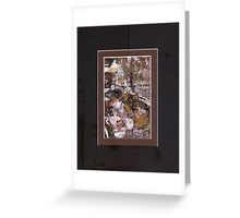 ABSTRACT SNOW SCENE Greeting Card
