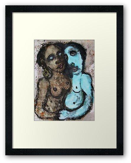 "Faces, Bernard Lacoque-36  ""The colours of love"" by ArtLacoque"