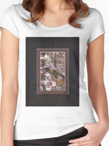 ABSTRACT SNOW SCENE Women's Fitted Scoop T-Shirt