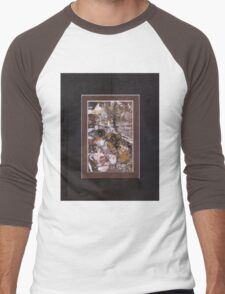 ABSTRACT SNOW SCENE Men's Baseball ¾ T-Shirt