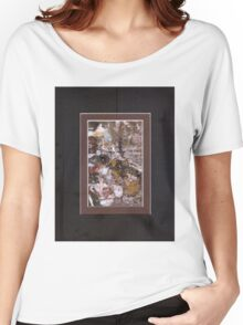 ABSTRACT SNOW SCENE Women's Relaxed Fit T-Shirt