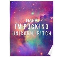 i am a unicorn Poster