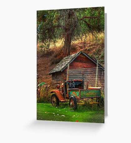 Old Fords never die, they just become picturesque Greeting Card