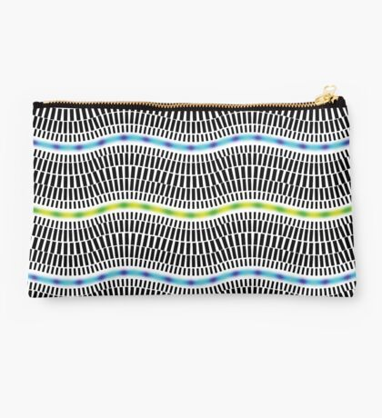 FLUORESCENT WAVES Studio Pouch