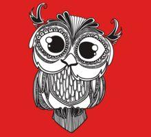 Owl mandala - white One Piece - Short Sleeve