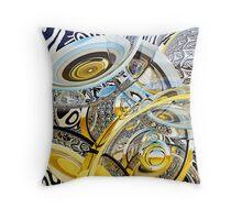 Escher Under the Lens Throw Pillow