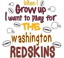 When I Grow Up... (Washington-Football) Photographic Print