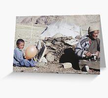 Nomadic Ladakhi people Greeting Card