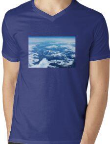 View on Mont Blanc Mens V-Neck T-Shirt