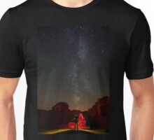 Perseid's and Milky Way at Loch Doon Castle Unisex T-Shirt
