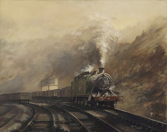 South Wales coal train by Richard Picton