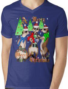 Merry Meerkat Christmas Shirt Mens V-Neck T-Shirt