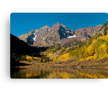 The Maroon Bells In Fall Canvas Print