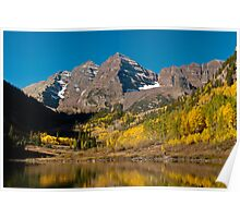 The Maroon Bells In Fall Poster