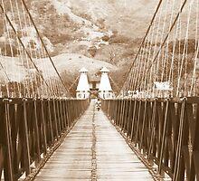 Puente de Occidente in Sepia for a Challenge by Esperanza Gallego