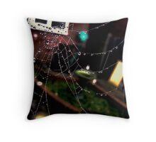 Garden Spiderweb Throw Pillow