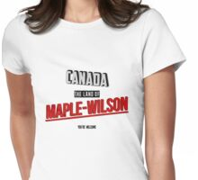 The Land Of MAPLE-WILSON Womens Fitted T-Shirt