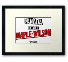 The Land Of MAPLE-WILSON Framed Print