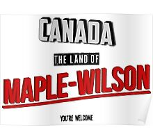 The Land Of MAPLE-WILSON Poster
