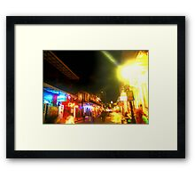sometimes in the night we become fragments of ourselves Framed Print
