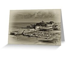 Tenby Harbour, Tenby, Pembrokeshire, South Wales,UK Greeting Card