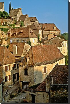 Beynac, Dordogne, France, 1980's by David A. L. Davies