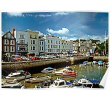 Dartmouth Harbour, Devon, England. 1990s. Poster