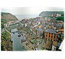 Staithes, North Yorkshire, NE England. Poster