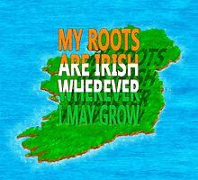 Irish Ancestry - Irish Roots Map Art by Mark Tisdale