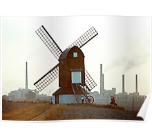 Pitstone Windmill, Buckinghamshire, England, 1970s. Poster