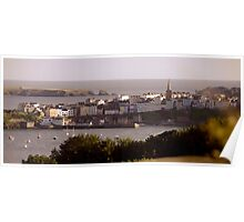 Overlooking Tenby Harbour Poster