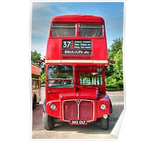 London Red Bus - Routemaster RM1363 Poster