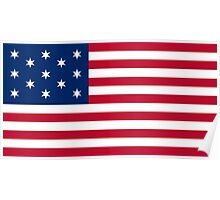 Historical Flags of the United States of America 1777 US Flag With 13 Stars and 13 Stripes Hopkinson Flag Poster