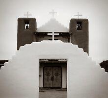 Taos Pueblo Church - New Mexico by Lisa Blair