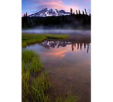 Rainier Sunrise Cap Photographic Print