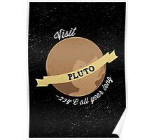 Visit Pluto Poster