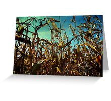 The Cornfields Rise Above Mankind Greeting Card