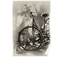 old bicycle in dappled light Poster