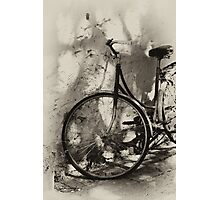 old bicycle in dappled light Photographic Print