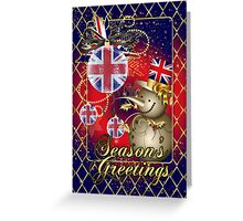 GB Patriotic Christmas Card - Season's Greetings Snowman  Greeting Card
