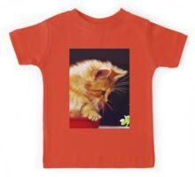 Cat On Red Tin Kids Tee