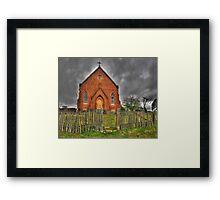Discarded Heart - Sacred Heart Church (c1872) , Hill End Australia - The HDR Experience Framed Print