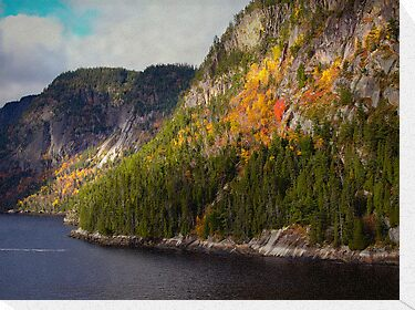A Little Red ~ Saguenay River by Lucinda Walter