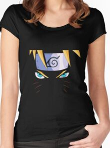 Naruto's Eyes Women's Fitted Scoop T-Shirt