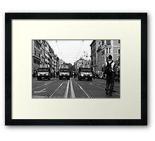 head of parade Framed Print
