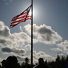 Backlit Flag by Lorrie Davis