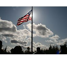 Backlit Flag Photographic Print