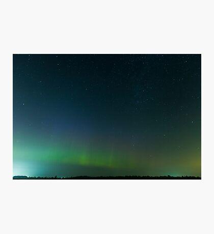 Aurora Borealis in summer Photographic Print
